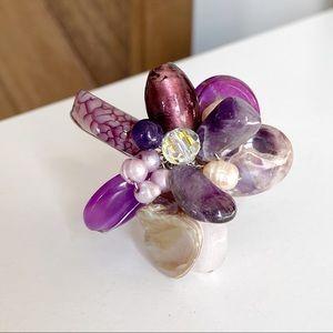 🎉5/20 SALE🎉 handmade purple stone flower ring